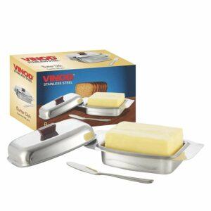 Vinod Stainless Steel Butter Dish