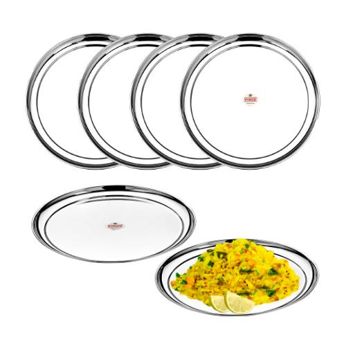 Vinod Stainless Steel Rajbhog Plate