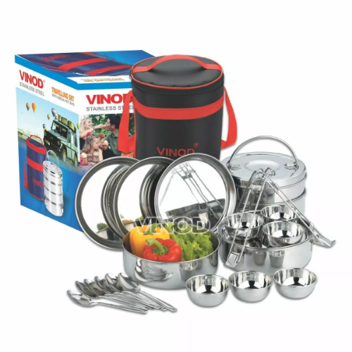 Vinod Stainless Steel Travelling Set