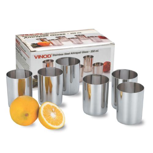 Vinod Stainless Steel Amrapali Glass