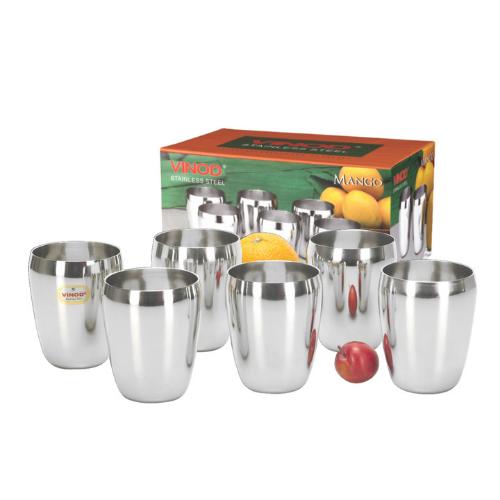 Vinod Stainless Steel Mango Glass