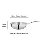 Vinod - Doniv Titanium Triply Stainless Steel Wok
