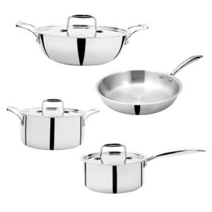 Doniv Titanium Triply 4 pc Mini Cookware Set