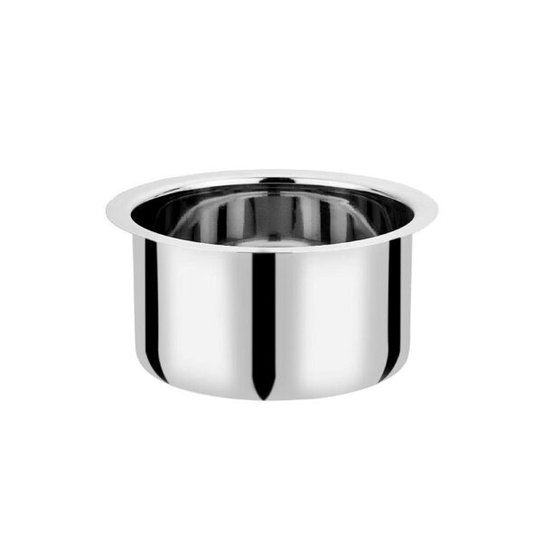 Vinod Stainless Steel Flat Bottom Tope Without Lid