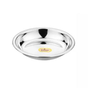 Vinod Stainless Steel Halwa Plate