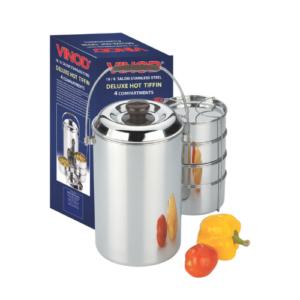 Vinod Stainless Steel Deluxe Hot Tiffin