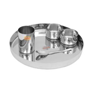 Vinod Stainless Steel 5 Pcs Thali Set