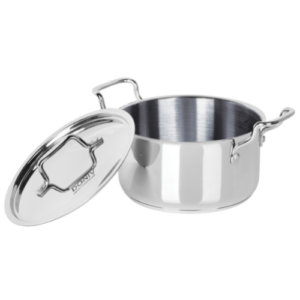 DONIV Cookware Induction Base Stainless Steel Sauce Pot With Lid